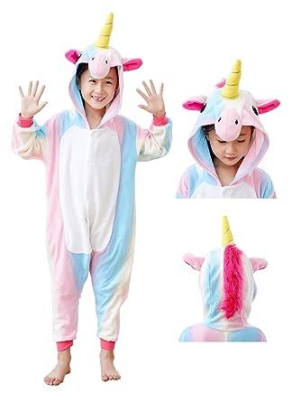 f3fd5a5bfd9a Amazon.com  Animal Onesie Unicorn Pajamas for Adults Kids Unisex ...