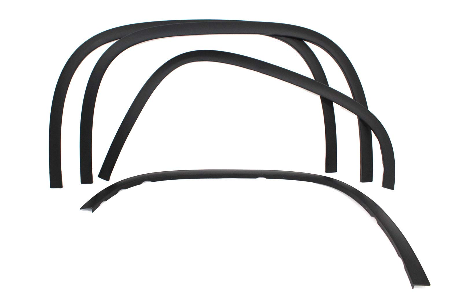 Carrichs Matte Black Fender Trim 2007-2013 GMC Sierra 1500 (Without Factory Flares)