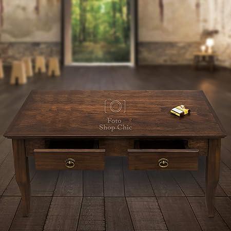 Tavolini Da Salotto In Stile Classico.Shop Chic Tavolino Da Salotto In Legno Noce Stile Classico Amazon