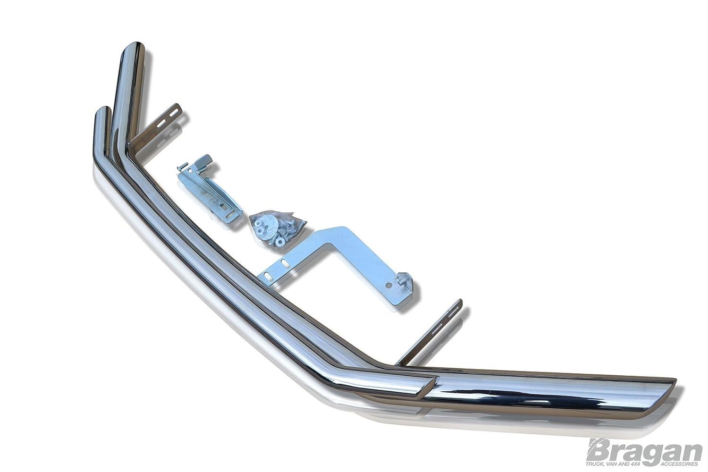 Fitting Kit Bragan BRA410146B Van SUV 4x4 Bumper Nudge Chin Front Spoiler Bar Silver Stainless Steel