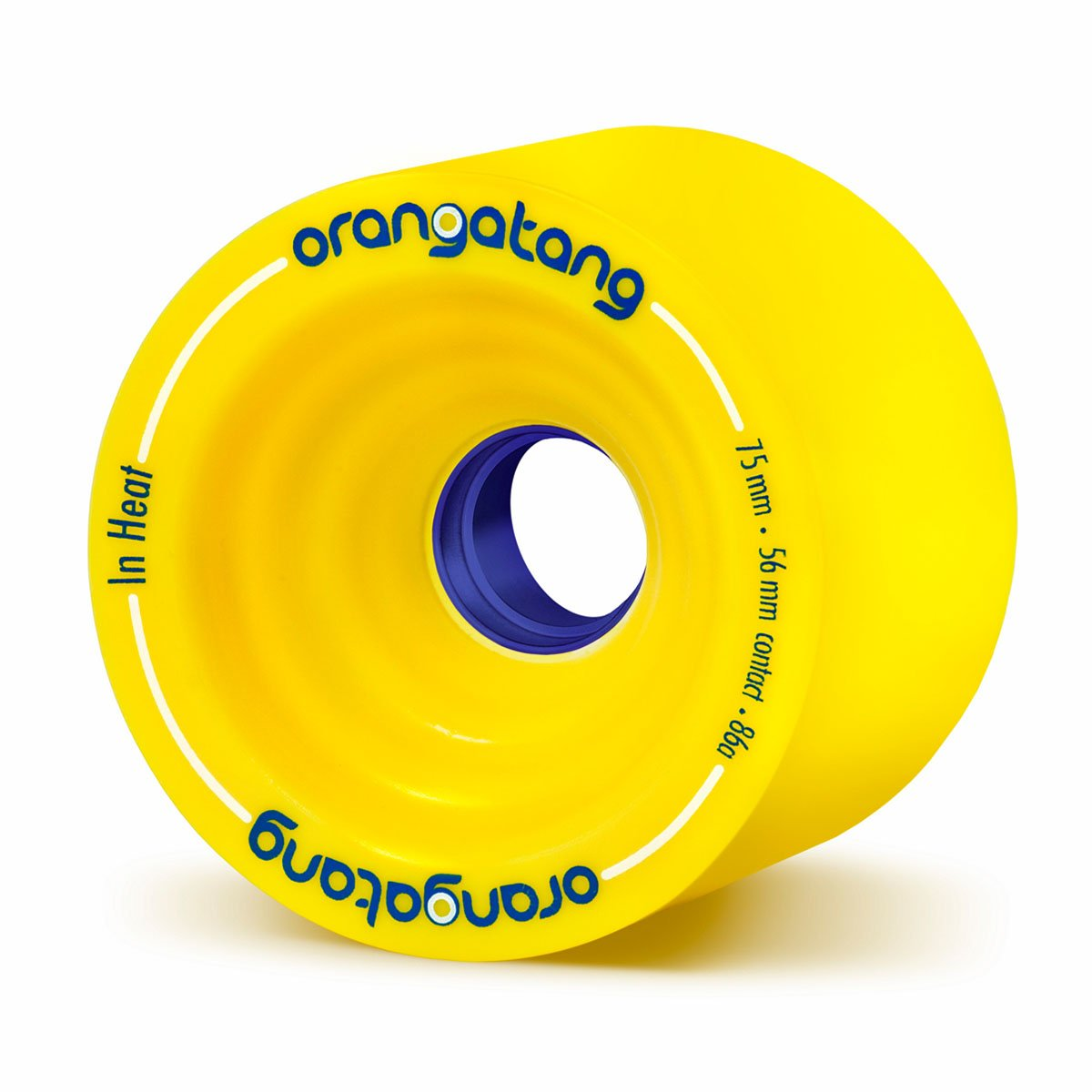Orangatang in Heat 75 mm 86a Downhill Longboard Skateboard Cruising Wheels (Yellow, Set of 4) by Orangatang