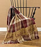 Park Designs Live Laugh Love Throw