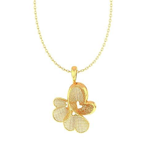 JewelTale 22KT Yellow Gold Pendant for Women Women