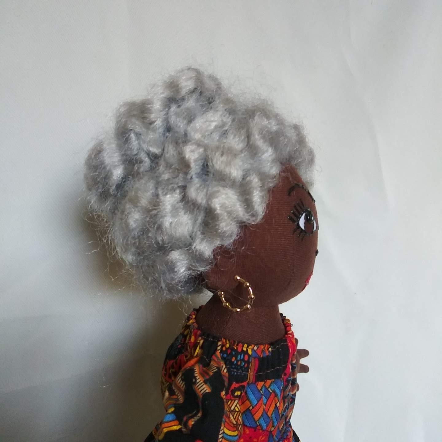 African Inspired Handcrafted Multicultural Doll Hand Painted African American Doll 14 inch Doll Black Doll Maker Natural Hair Styles Black Doll Collectible Doll Ethnic Doll