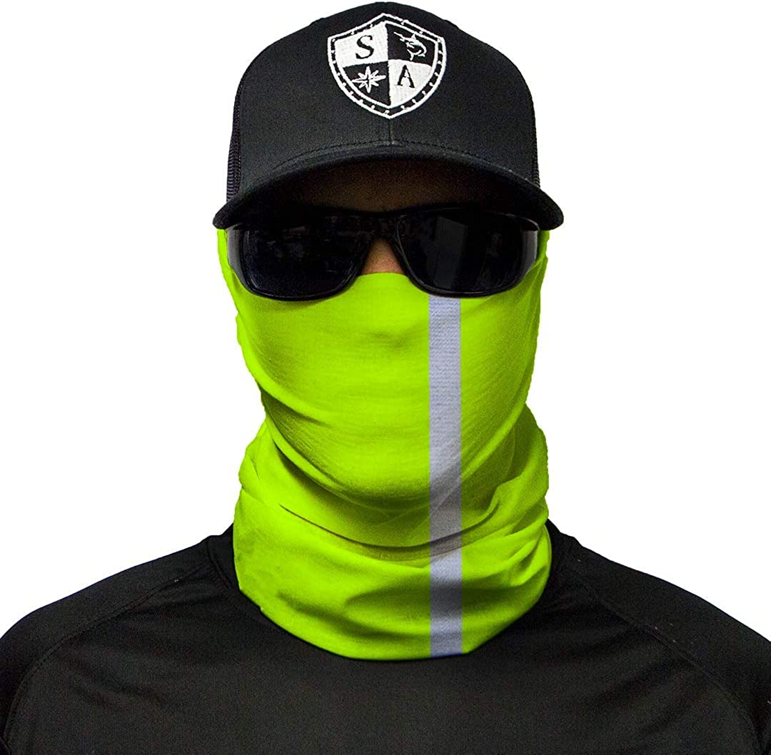 Designs to Choose From ** Quality Multi-Functional Head-wear Bandana SA Fishing Face Shields ** 40 Scarf Fabric /& SPF 40/Face Masks by SA Company Scarf Neck
