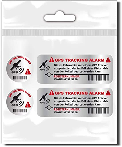 Style4bike Tracking Set Gps Abschreckende Gps Tracking Als Sticker Set Für Fahrrad Wetterfeste Aufkleber D00048 Küche Haushalt
