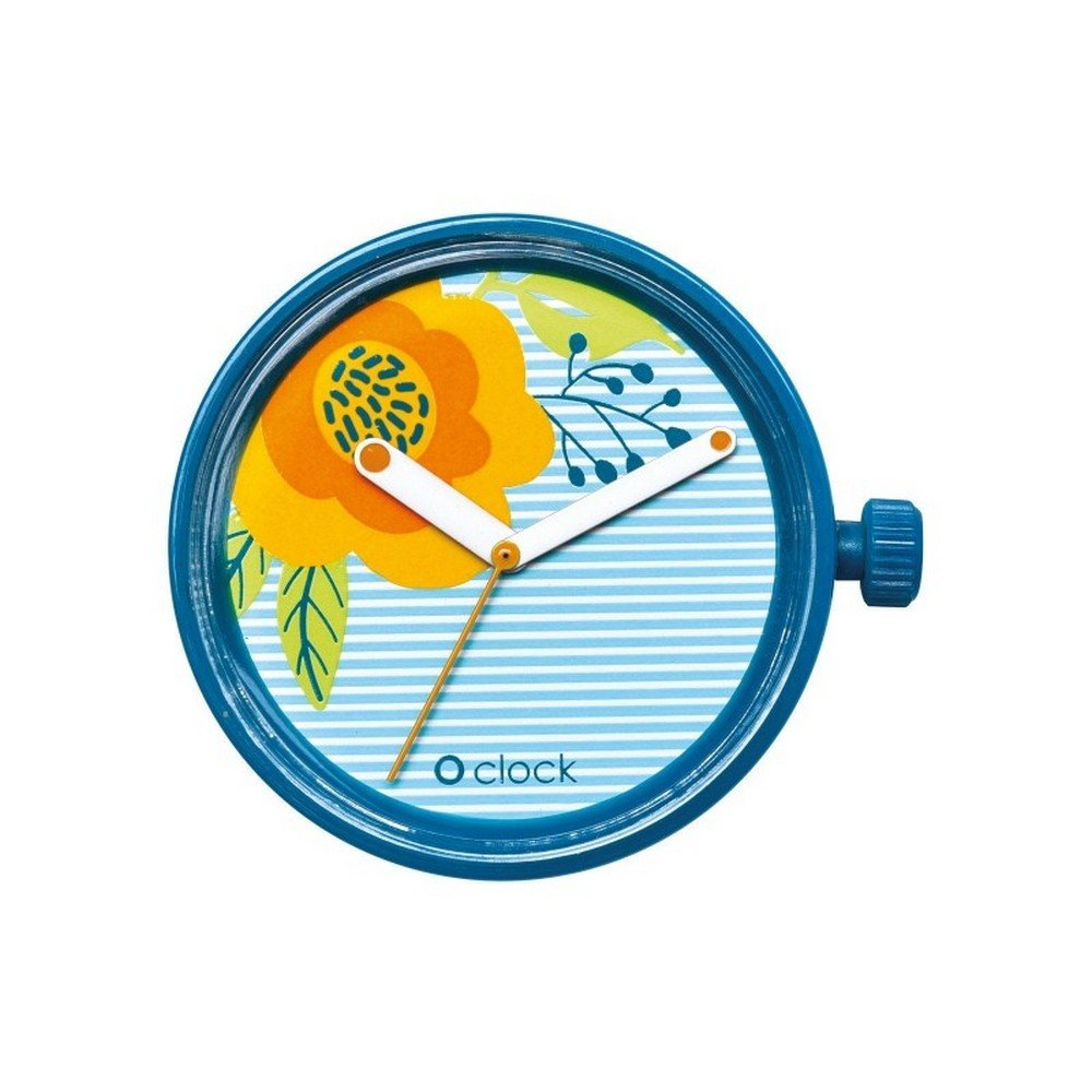Deauville Lines + Flowers mecanismo Flores Azul obag: Amazon.es: Relojes