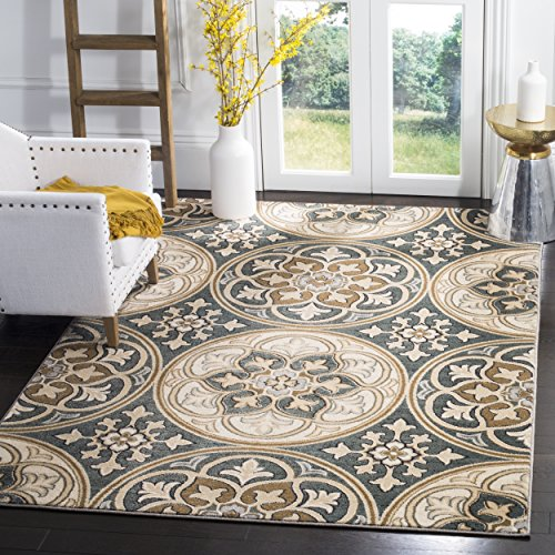 ollection LNH341C Slate Blue and Beige Area Rug, 5'3