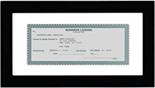 product image for Flag Connections Business License Frame - Display Business Licenses 3.5x8 Inches with Mat - Display Business Licenses 5x10 Without Mat - Standard Business Licenses, Real Estate License and Bank Checks