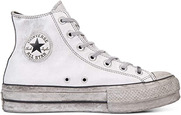 Scarpe da Donna Sneaker Converse all Star Platform Pelle Nera Donna FW 19 20