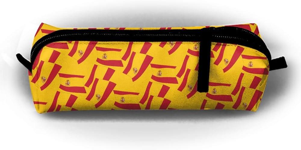 Estuche para lápices con diseño de bandera de España, bolsa de papelería, bolsa de viaje, monedas, bolsas: Amazon.es: Hogar