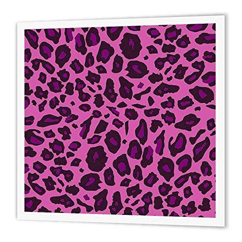 3dRose ht_112933_3 Hot Pink Leopard Print Bold Girly Cheetah Spots Stylish Animal Skin Pattern Glamorous Diva Glam Iron on Heat Transfer, 10 by 10