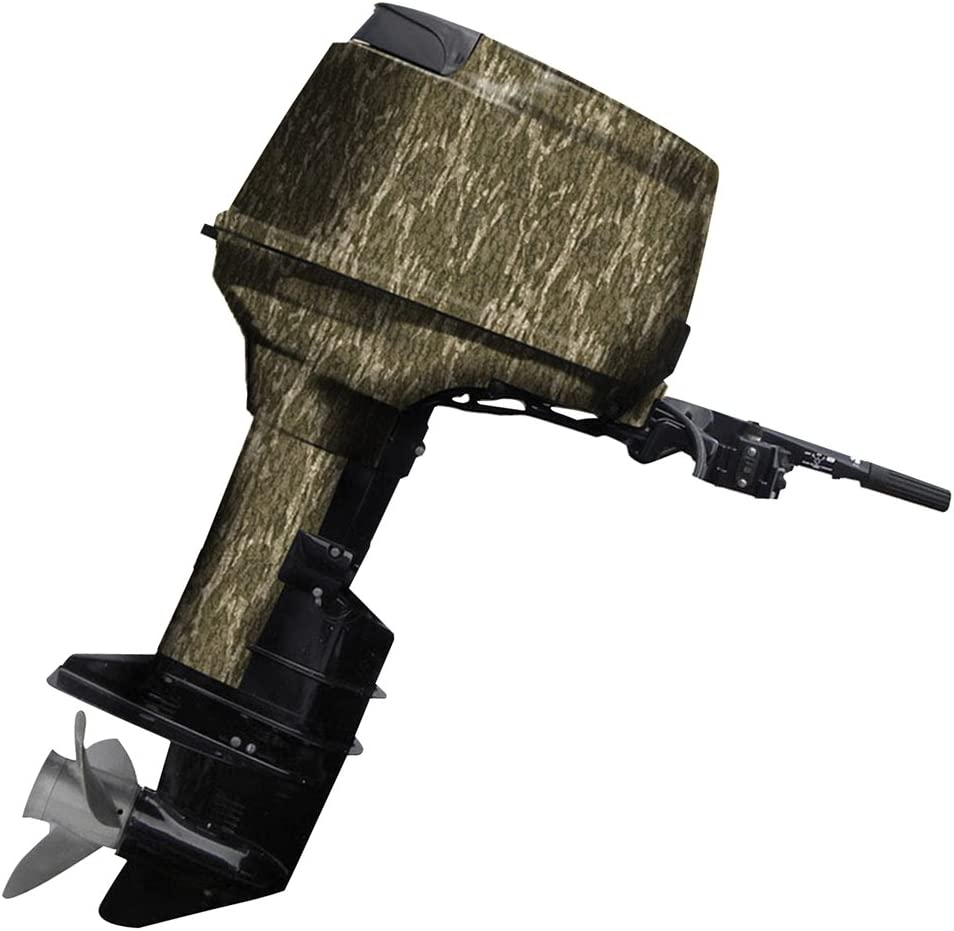 Mossy Oak Graphics Bottomland Camo Boat Motor Wrap Kit - Easy to Install Vinyl Wrap with Matte Finish - 40 HP Or Less Kit