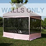 ABCCANOPY Silver Coated Screen Wall Mesh Screen House Zippered Wall Panels for 10′ x 10′ Canopy(Pink) Review