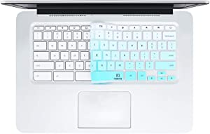 "FORITO KeyboardCover Compatible with HP Chromebook 14 / HP Chromebook 11 G1 G2 G3 G4 G5 G6 EE 11.6 Inch/HP Chromebook x360 11.6"" ae Series/HP Chromebook 11 G6 EE 11.6"" /HP Chromebook -Ombre Hot Blue"
