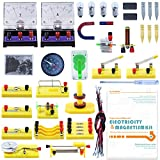 Teenii STEM Physics Science Lab Basic Circuit Learning Kit Electricity and Magnetism Experiment Introduction for Kids Junior Senior High School Students Electromagnetism Elementary Electronics