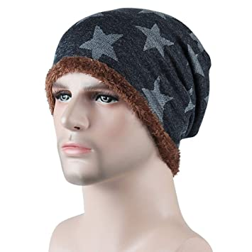 4ddd3ea2 Image Unavailable. Image not available for. Color: Men Winter Cold Weather  Knit Beanie ...