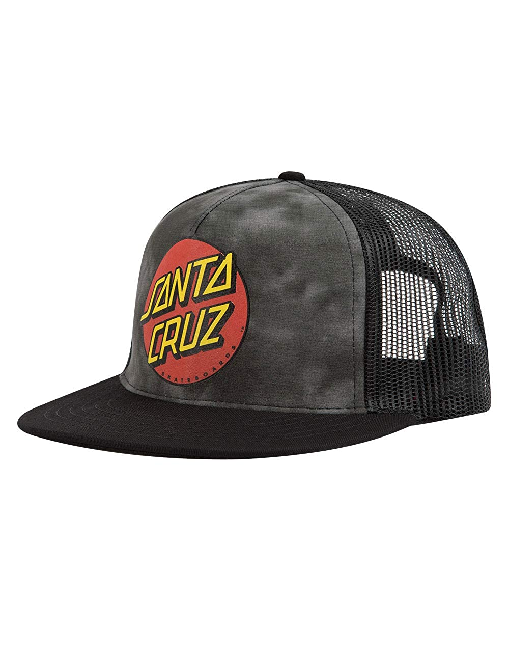 e6458a5167c85 Santa Cruz Mens Classic Dot Trucker Mesh Adjustable Hat One Size Black at  Amazon Men s Clothing store