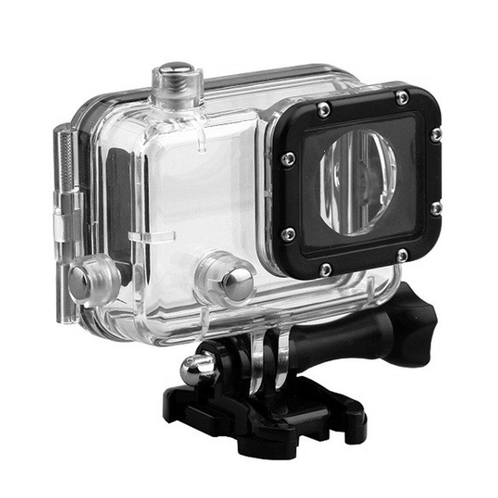 30m防水ハウジングシェル GitUp Git1 Git2カメラ用 ダイビング保護ハウジングケース 透明アクリル水中保護カバー アクションカメラアクセサリー  透明 B07Q5W33HQ