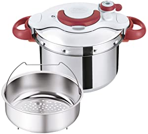 "T-fal Pressure Cooker ""ClipsoMinut Easy"" 6.0L (Ruby Red) P4620769【Japan Domestic genuine products】 【Ships from JAPAN】"