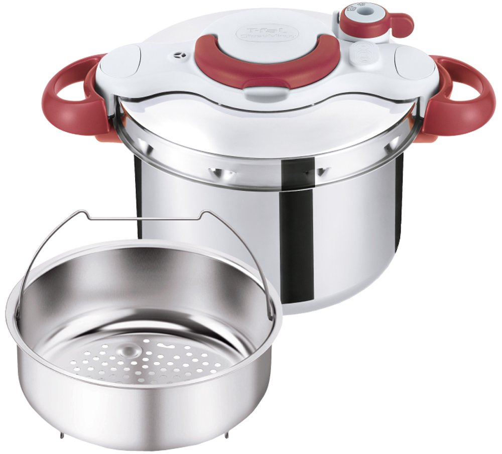 T-fal Pressure Cooker ''ClipsoMinut Easy'' 6.0L (Ruby Red) P4620769【Japan Domestic genuine products】 【Ships from JAPAN】