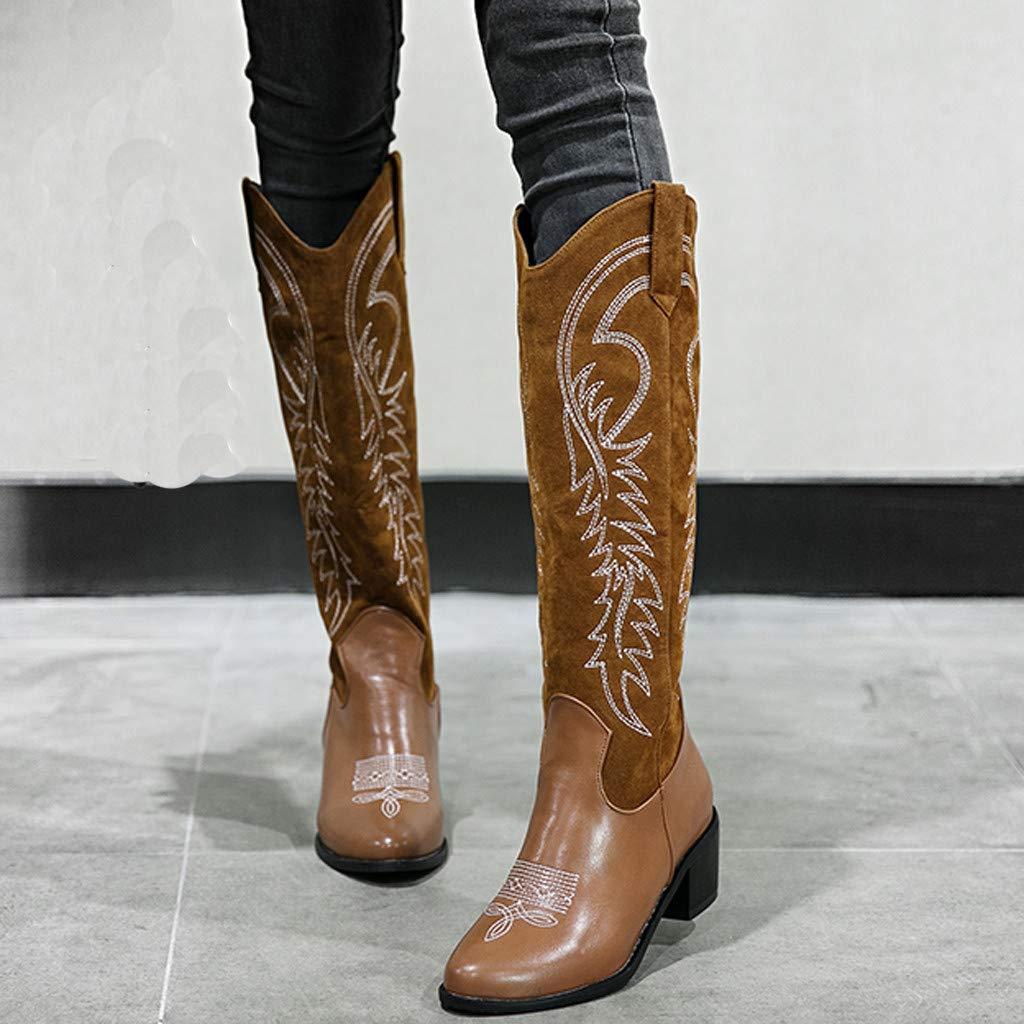 Amazon.com: Sumen Botas de vaquero Western Rodeo de tacón ...