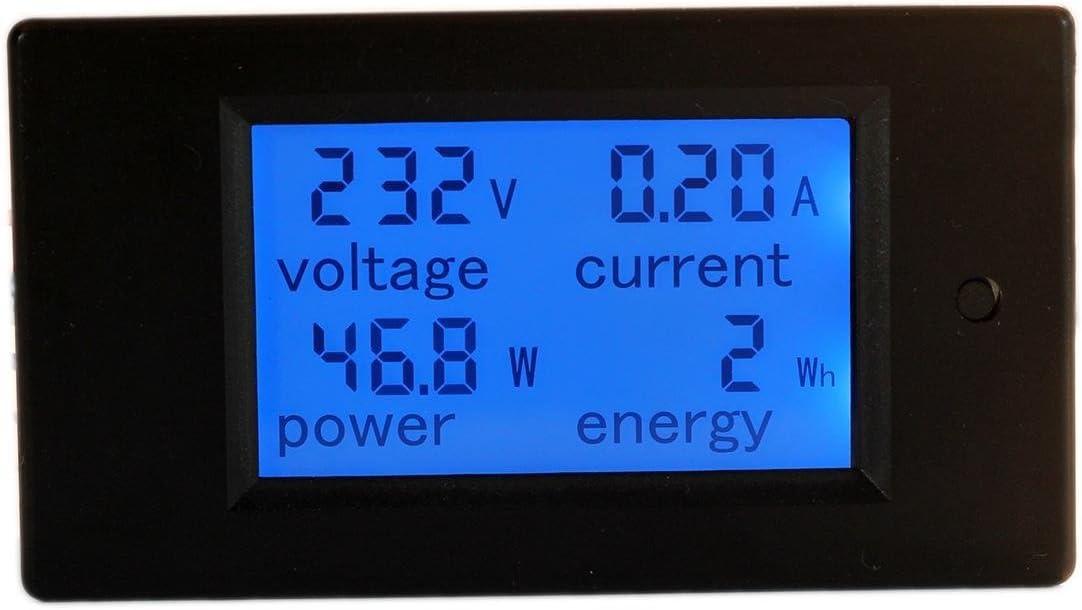HiLetgo Digital Multimeter AC 80-260V 100A PZEM-061 LCD Display Digital Current Voltage Power Energy Multimeter Ammeter Voltmeter with Current ...