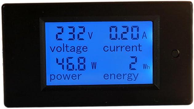 Voltmeter AC 80-260V 100A BAYITE-PZEM-061 Digitales Amperemeter Multimeter Energie f/ür Stromspannung HiLetgo DC 6,5-100V 0-20A