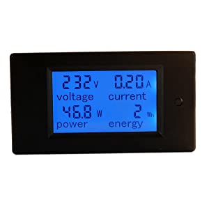 HiLetgo Digital Multimeter AC 80-260V 100A PZEM-061 LCD Display Digital Current Voltage Power Energy Multimeter Ammeter Voltmeter with Current Transformer CT