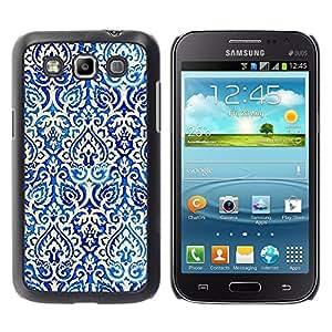 TopCaseStore / la caja del caucho duro de la cubierta de protección de la piel - Poker Pattern Wallpaper White - Samsung Galaxy Win I8550 I8552 Grand Quattro