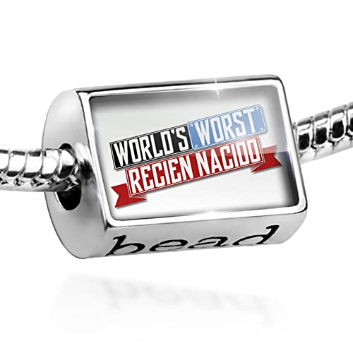 Amazon.com: NEONBLOND Charm Funny Worlds Worst Recién Nacido Bead ...