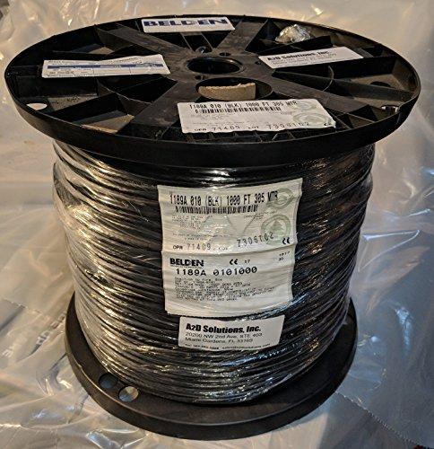 BELDEN 1189A 0101000 COAXIAL CABLE, QUAD SHIELD, RG6/U, 1000FT, BLACK (Belden Rg6 Quad)