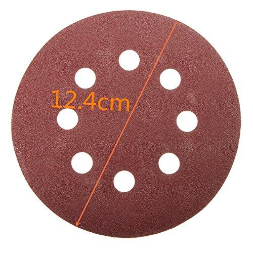 Letbo New 30pcs 5 Inch 8 Holes Abrasive Sanding Discs Sanding Paper 60//120//240 Grit Sandpapers