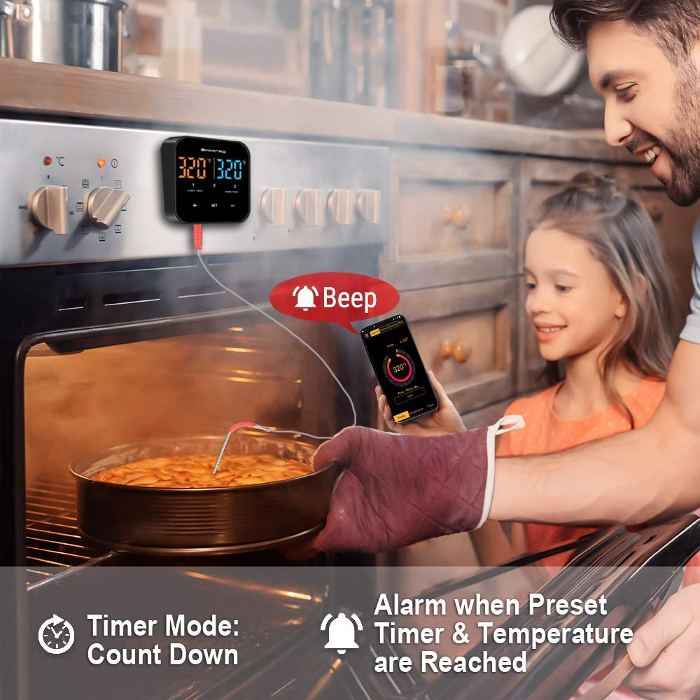 SMARTRO ST55 Wireless Digital Meat Thermometer for Oven Grill Kitchen Food Cooking Smoker BBQ with 3 Probes by SMARTRO (Image #3)