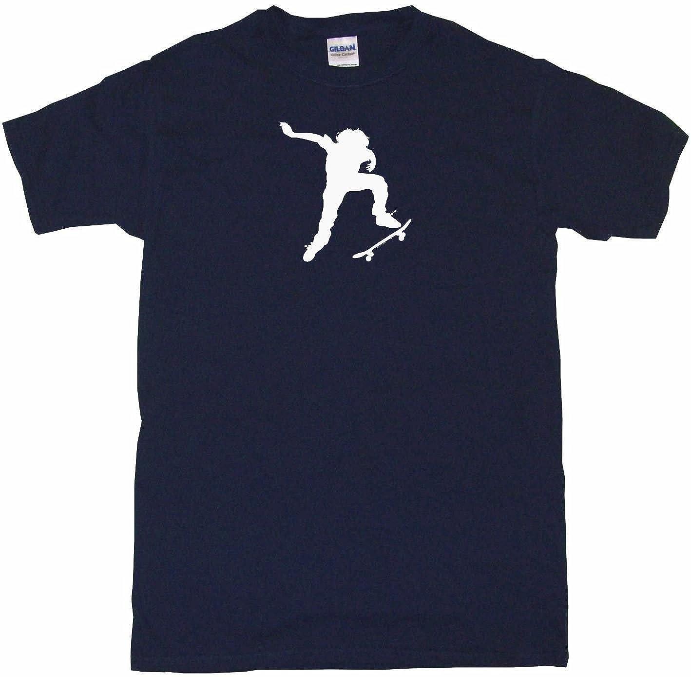 095bf4abc7 Ollie Skateboard Kid Silhouette Big Boy's Kids Tee Shirt