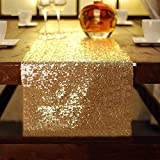 Kitchen Appliance Packages Luxury Luxury Sparkly Sequins Table Runner 30X274cm Gold Wedding Party Event Tablecloth Decoration Supplies