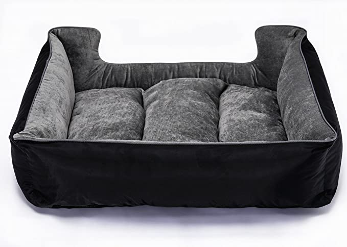 On Paws Sleep Well Lounger Negro Gris, tamaño M (65 x 50 cm)