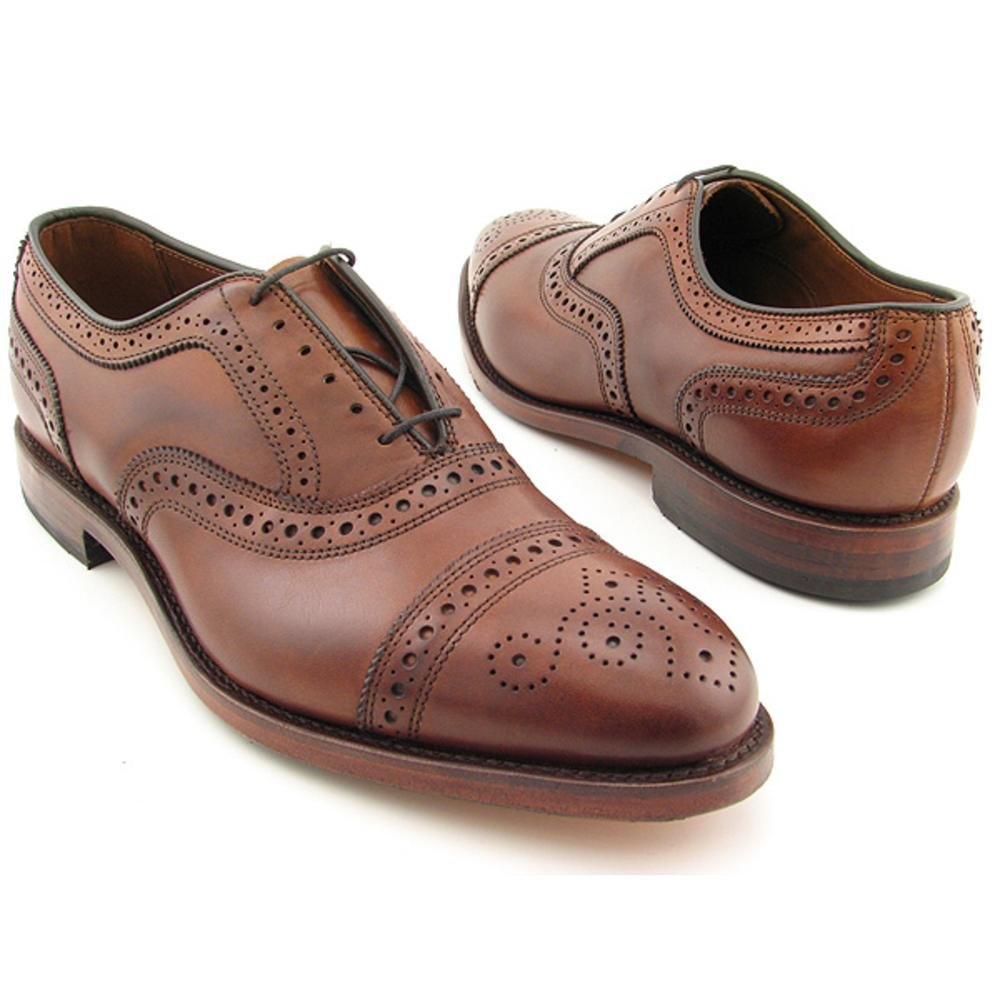 Allen Edmonds Strand Cap-Toe Oxfords Mens Dress Shoes 1635 Walnut Calf 9.5E US