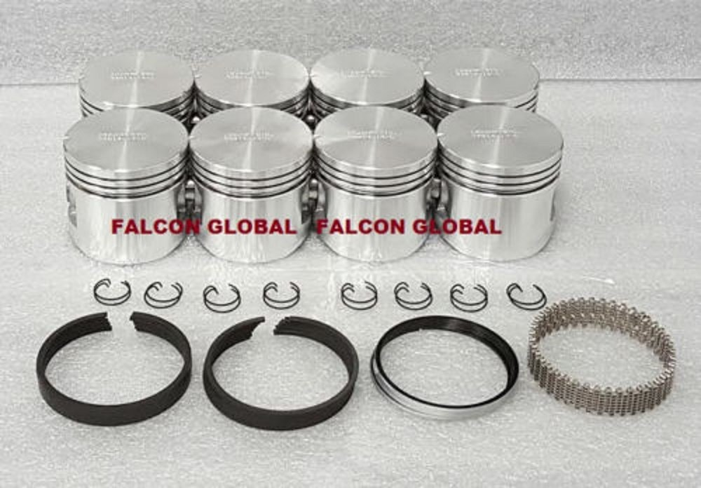 Federal Mogul Pistons /& Hastings Ringscompatible with Ford Mercury 292 Y-Block F100 Thunderbird. 3.790 @ 040 Over Bore