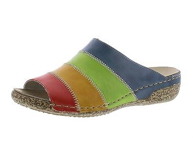 Gemini 032084-02 Schuhe Damen Sandalen Pantoletten Clogs, Schuhgröße:38;Farbe:Mehrfarbig
