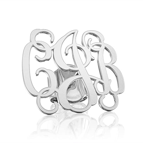 58f50749e Image Unavailable. Image not available for. Color: Personalized Monogram  earrings Initial name earring 925 Sterling Silver ...