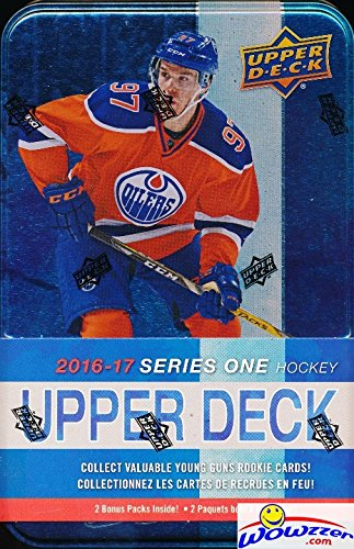 2016-17-upper-deck-series-1-nhl-hockey-factory-sealed-collectors-tin-with-12-packs-special-winter-cl