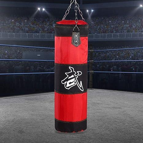 Red-1.2m HGY Punch Bags,Training Boxing Hook Kick Sandbag Fight Karate Punch Punching Sand Bag Sandbag