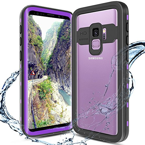 XBK Samsung Galaxy S9 Case, Waterproof Shockproof Case, Ultra Protective Case with Built-in Screen Protector Desgin for Galaxy S9 (5.8 Inch,Purple)