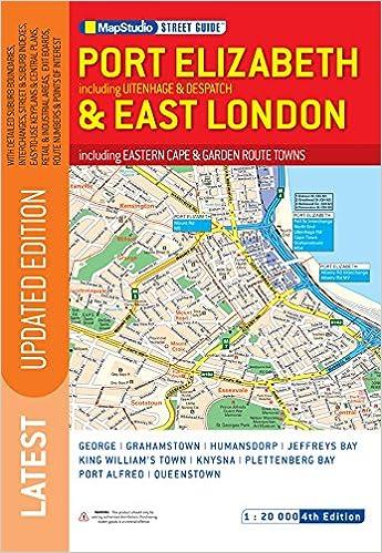 East London Uk Map.Port Elizabeth East London Str Guide Ms Amazon Co Uk Map Studio