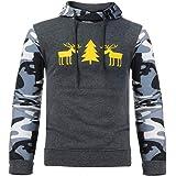13a1dd51555eb AIMEE7 Sweat à Capuche pour Hommes Pull Noel Automne Hiver Chaud Sweat-Shirt  Manteau Imprimé