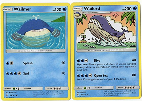 Pokemon - Evolution Set - Wailord & Wailmer - Guardians, used for sale  Delivered anywhere in USA