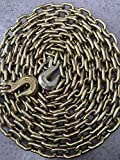 Grade 70 3/8''x25' Binder Chains 3/8X25 Truck Chain Clevis Hooks Each End