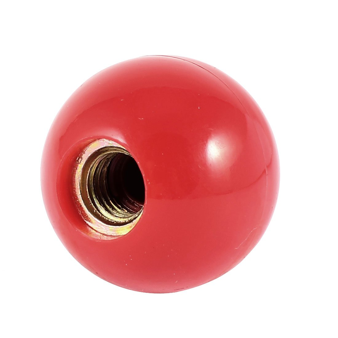 uxcell Red Plastic 40mm Dia Female Thread Door Ball Lever Knob