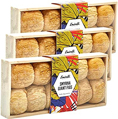 Emirelli Turkish Dried Giant Figs, Vegan and Natural Sunny Fruits, Gluten Free Snacks, No Sugar Added and Non GMO, High Vitamin and Minerals Snacks, ...